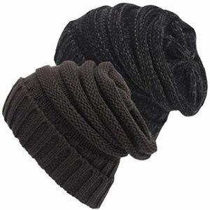 Senker Slouchy Beanie Soft Cozy Cable Hats Cap